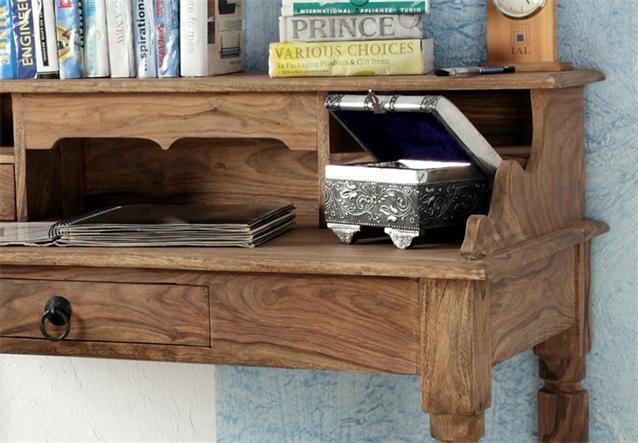 sekret r bombay 6038 schreibtisch massivholz sheesham. Black Bedroom Furniture Sets. Home Design Ideas