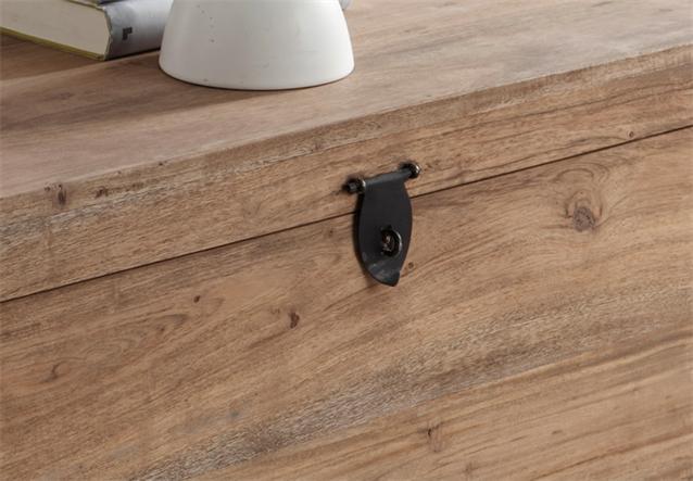 truhe guru 6606 von wolf m bel holz akazie massiv stone 64x34x33 cm ebay. Black Bedroom Furniture Sets. Home Design Ideas