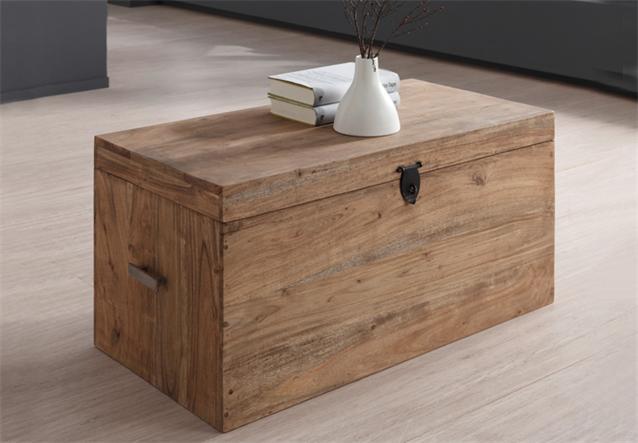 truhe guru 6606 von wolf m bel holz akazie massiv stone 80x38x40 cm ebay. Black Bedroom Furniture Sets. Home Design Ideas