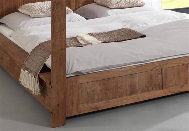 himmelbett guru 6687 akazie massiv stone bett 180x200 von wolf m bel ebay. Black Bedroom Furniture Sets. Home Design Ideas