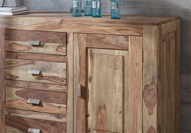 kommode yoga sheesham massivholz schrank sideboard landhausstil von wolf m bel ebay. Black Bedroom Furniture Sets. Home Design Ideas