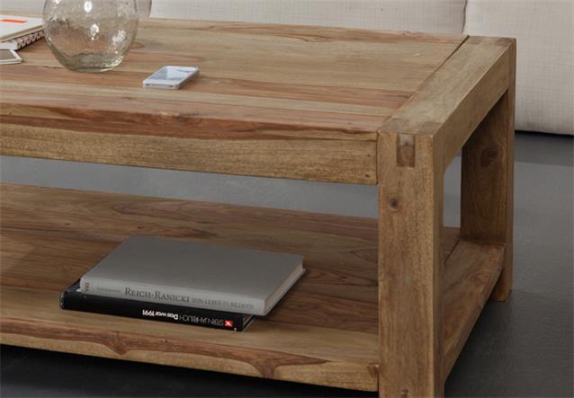couchtisch yoga sheesham massivholz tisch landhausstil von wolf m bel 120x80 cm ebay. Black Bedroom Furniture Sets. Home Design Ideas