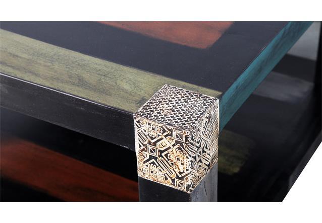 Couchtisch 80×80 Goa Tisch Beistelltisch Massivholz