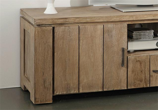 tv lowboard venice media m bel akazie sand massiv von wolf m bel ebay. Black Bedroom Furniture Sets. Home Design Ideas