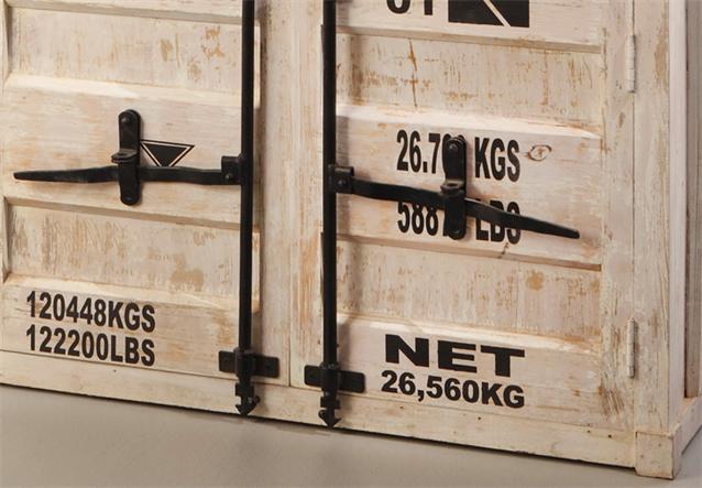 kommode 6902 container von wolf m bel in massivholz akazie antik weiss used look ebay. Black Bedroom Furniture Sets. Home Design Ideas