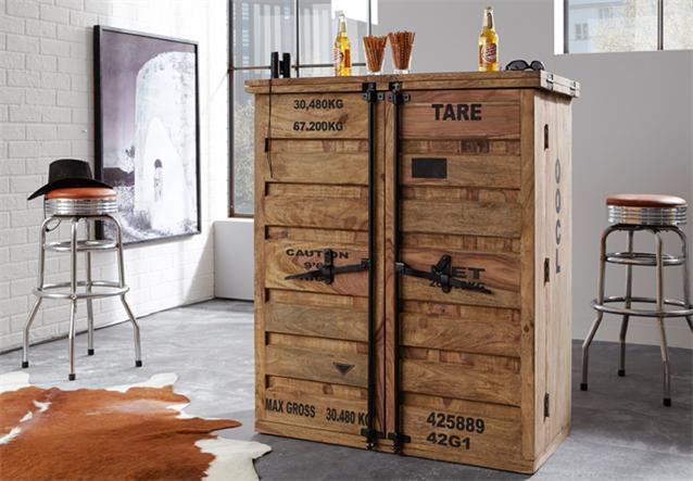 bar 6909 container von wolf m bel in massivholz sheesham. Black Bedroom Furniture Sets. Home Design Ideas