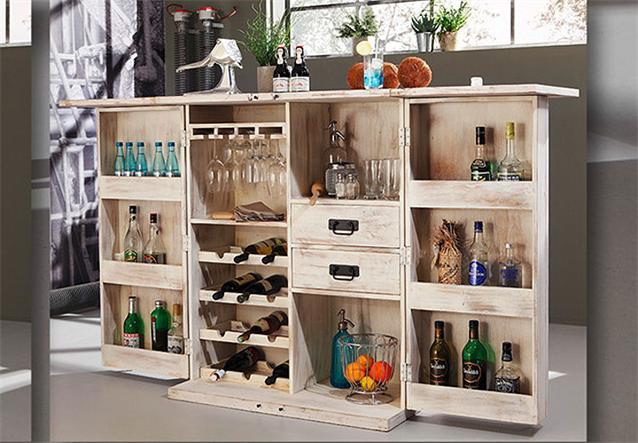 bar 6909 container von wolf m bel in massivholz akazie. Black Bedroom Furniture Sets. Home Design Ideas