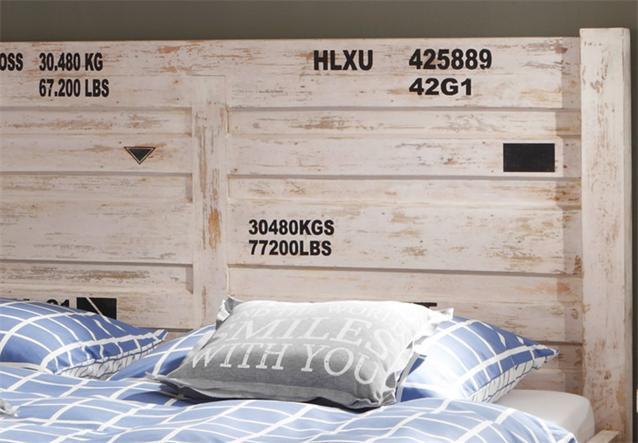 bett 6910 container von wolf m bel in massivholz akazie antik weiss used look ebay. Black Bedroom Furniture Sets. Home Design Ideas