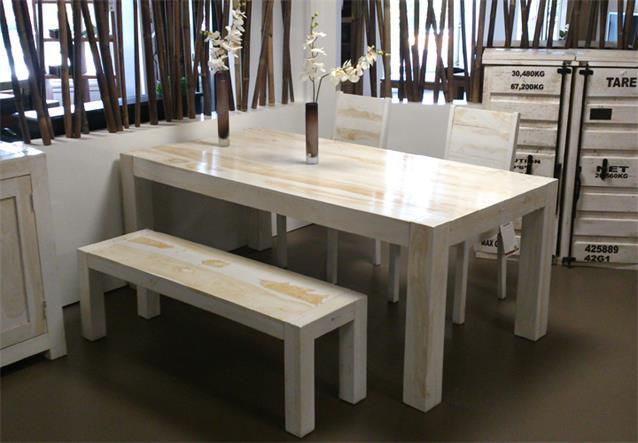 esstisch yoga sheesham massivholz tisch 200x100 in marble von wolf m bel ebay. Black Bedroom Furniture Sets. Home Design Ideas