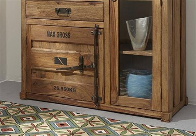 highboard 6911 container von wolf m bel in massivholz. Black Bedroom Furniture Sets. Home Design Ideas