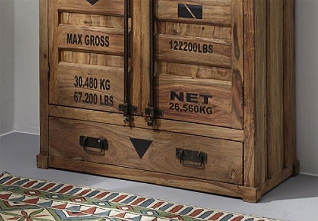 highboard 6912 container von wolf m bel in massivholz sheesham natur ebay. Black Bedroom Furniture Sets. Home Design Ideas