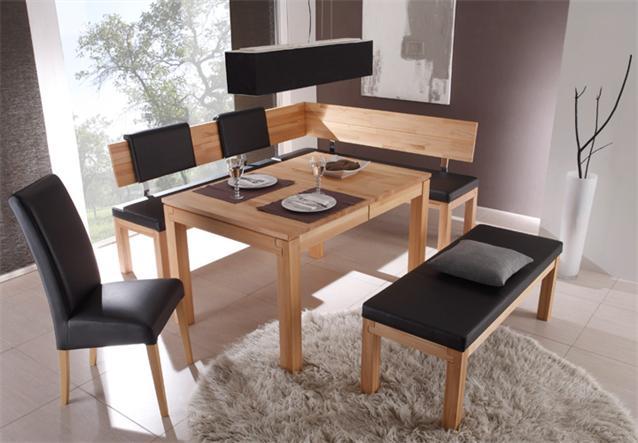eckbank sarah middle rechts in kernbuche massiv lackiert. Black Bedroom Furniture Sets. Home Design Ideas
