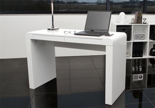 schreibtisch conda tisch in wei hochglanzlack 120x76x50 cm ebay. Black Bedroom Furniture Sets. Home Design Ideas