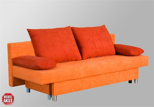 schlafsofa jelly sofa in terracotta mit bettkasten ebay. Black Bedroom Furniture Sets. Home Design Ideas