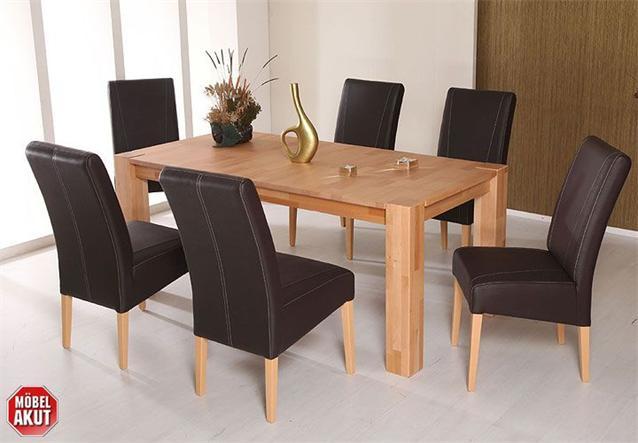 stuhl leon creme braun schwarz f e buche natur ebay. Black Bedroom Furniture Sets. Home Design Ideas