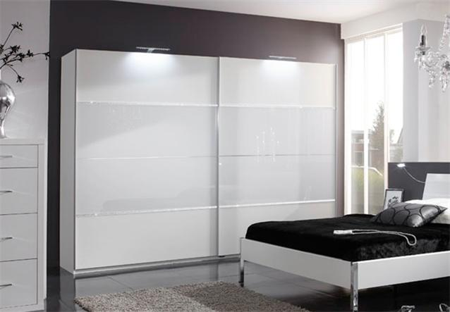 schwebet renschrank plato kleiderschrank in wei glas strass 180cm bielefeld. Black Bedroom Furniture Sets. Home Design Ideas