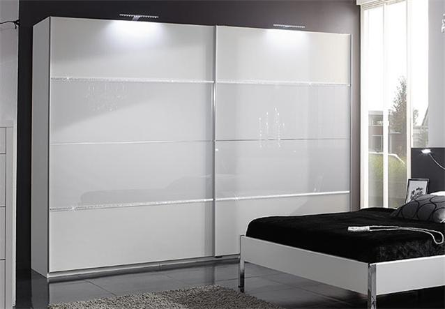 schwebet renschrank plato in wei glas strass 270cm bielefeld. Black Bedroom Furniture Sets. Home Design Ideas