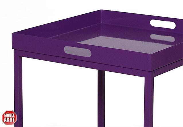 beistelltisch trail tisch in metall lack lila neu ebay. Black Bedroom Furniture Sets. Home Design Ideas