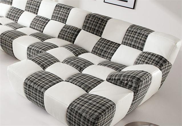 wohnlandschaft bronx sofa ecksofa bigsofa in wei schwarz gelb neu ebay. Black Bedroom Furniture Sets. Home Design Ideas