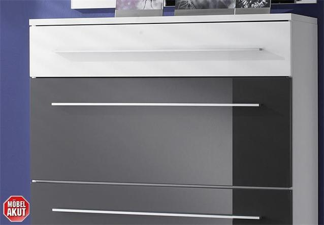 schuhschrank lyon grau wei hochglanz schrank ebay. Black Bedroom Furniture Sets. Home Design Ideas