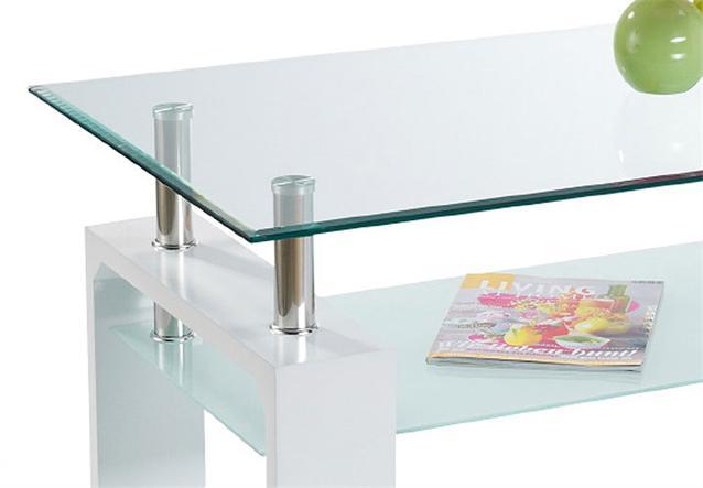 Couchtisch danja tisch in wei chrom neu ebay for Couchtisch untergestell metall