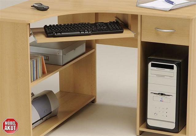 pc tisch pax in buche ecktisch schreibtisch neu ebay. Black Bedroom Furniture Sets. Home Design Ideas