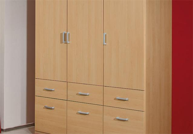 kleiderschrank bremen schrank w scheschrank in buche hell 136 cm ebay. Black Bedroom Furniture Sets. Home Design Ideas
