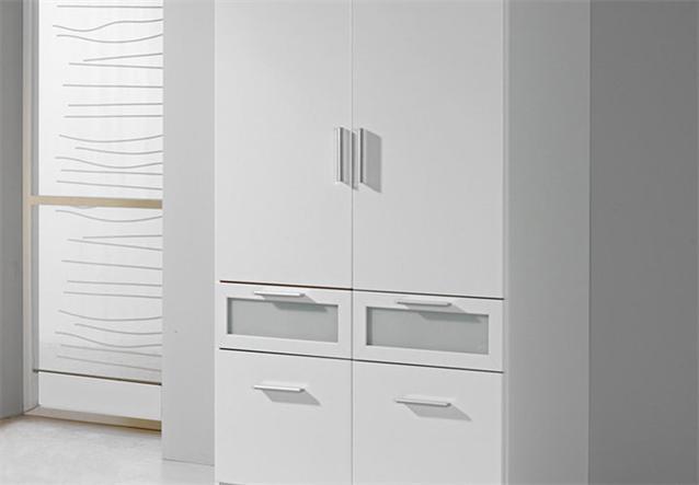kleiderschrank i bochum schrank in wei und milchglas 90 cm ebay. Black Bedroom Furniture Sets. Home Design Ideas