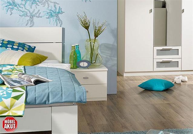 jugendzimmer set chica 3 teiliges kinderzimmer schlafzimmer in wei 140x200 ebay. Black Bedroom Furniture Sets. Home Design Ideas