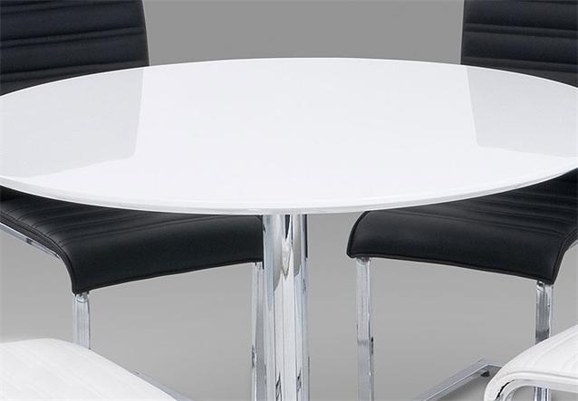 esstisch guti tisch in wei hochglanz und chrom 110 cm ebay. Black Bedroom Furniture Sets. Home Design Ideas