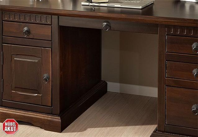 schreibtisch hindu b rotisch pinie massiv kolonial. Black Bedroom Furniture Sets. Home Design Ideas
