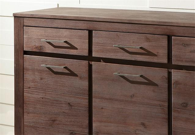 sideboard canaria kommode in akazie massiv neu ebay. Black Bedroom Furniture Sets. Home Design Ideas