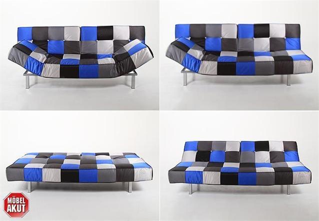 sofa jaxon schlafsofa bettfunktion patchwork lila ebay. Black Bedroom Furniture Sets. Home Design Ideas