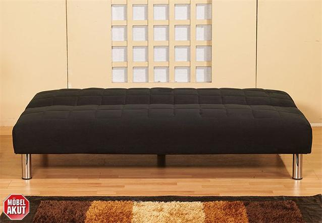 schlafsofa alina sofa in schwarz mit bettfunktion neu ebay. Black Bedroom Furniture Sets. Home Design Ideas
