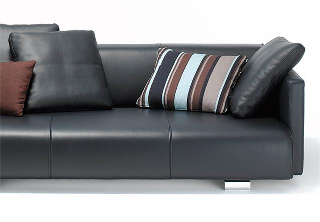 original rolf benz sofa sob 6300 in schwarz nappa leder neu ebay. Black Bedroom Furniture Sets. Home Design Ideas
