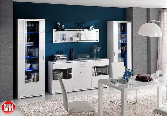 highboard lorano kommode grau hochglanz neu ebay. Black Bedroom Furniture Sets. Home Design Ideas