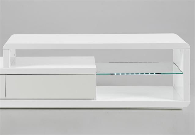 tv board in wei hochglanz lack lowboard tv tisch mit. Black Bedroom Furniture Sets. Home Design Ideas