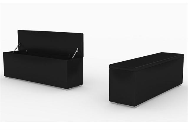bank bench bettbank f rs schlafzimmer in wei mit stauraum. Black Bedroom Furniture Sets. Home Design Ideas
