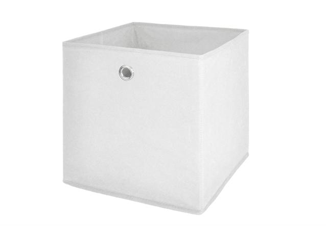 faltbox 4er set korb regal aufbewahrungs box in wei. Black Bedroom Furniture Sets. Home Design Ideas