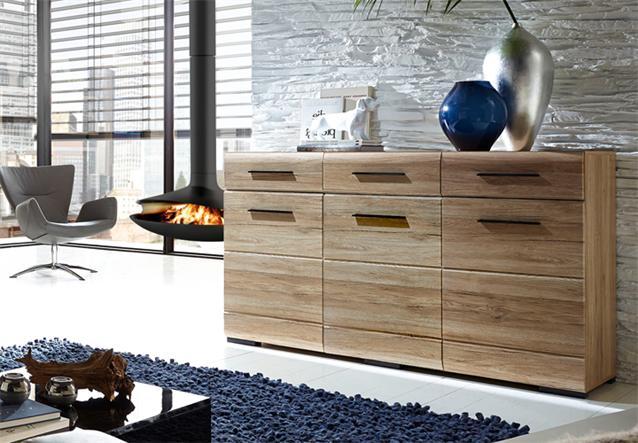 sideboard 1 hit in san remo eiche hell kommode wohnzimmer schrank ebay. Black Bedroom Furniture Sets. Home Design Ideas