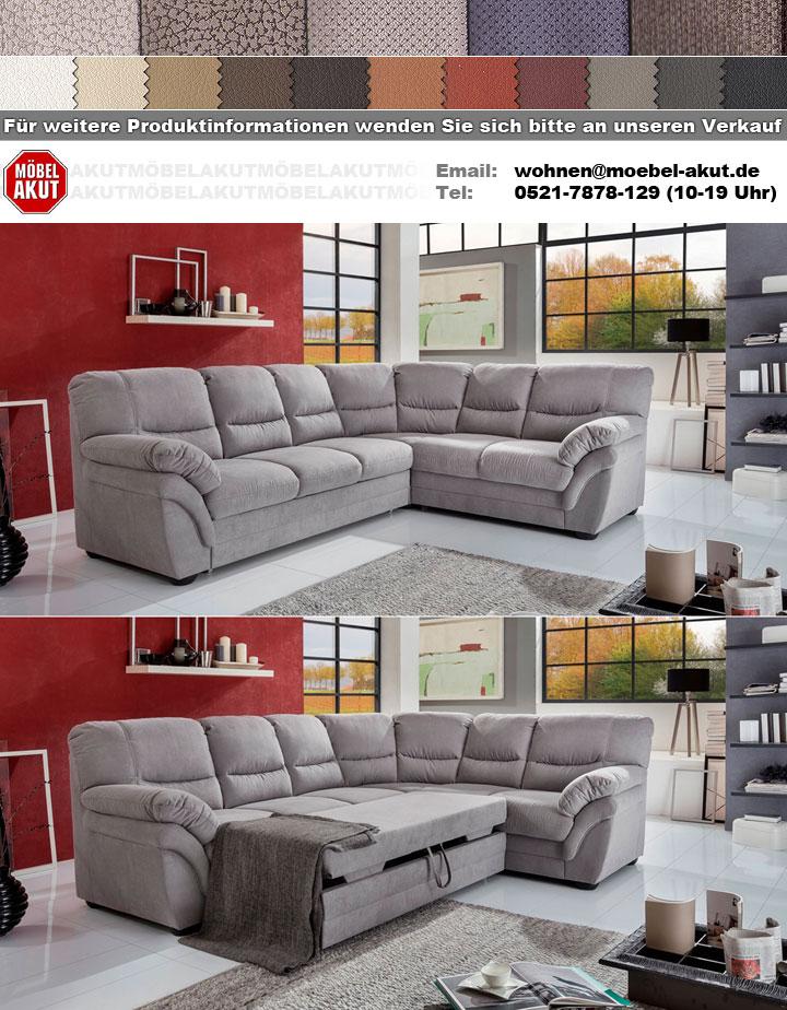 ecksofa riku eckgarnitur in stoff hellgrau inkl nosagfederung 268x218 cm ebay. Black Bedroom Furniture Sets. Home Design Ideas