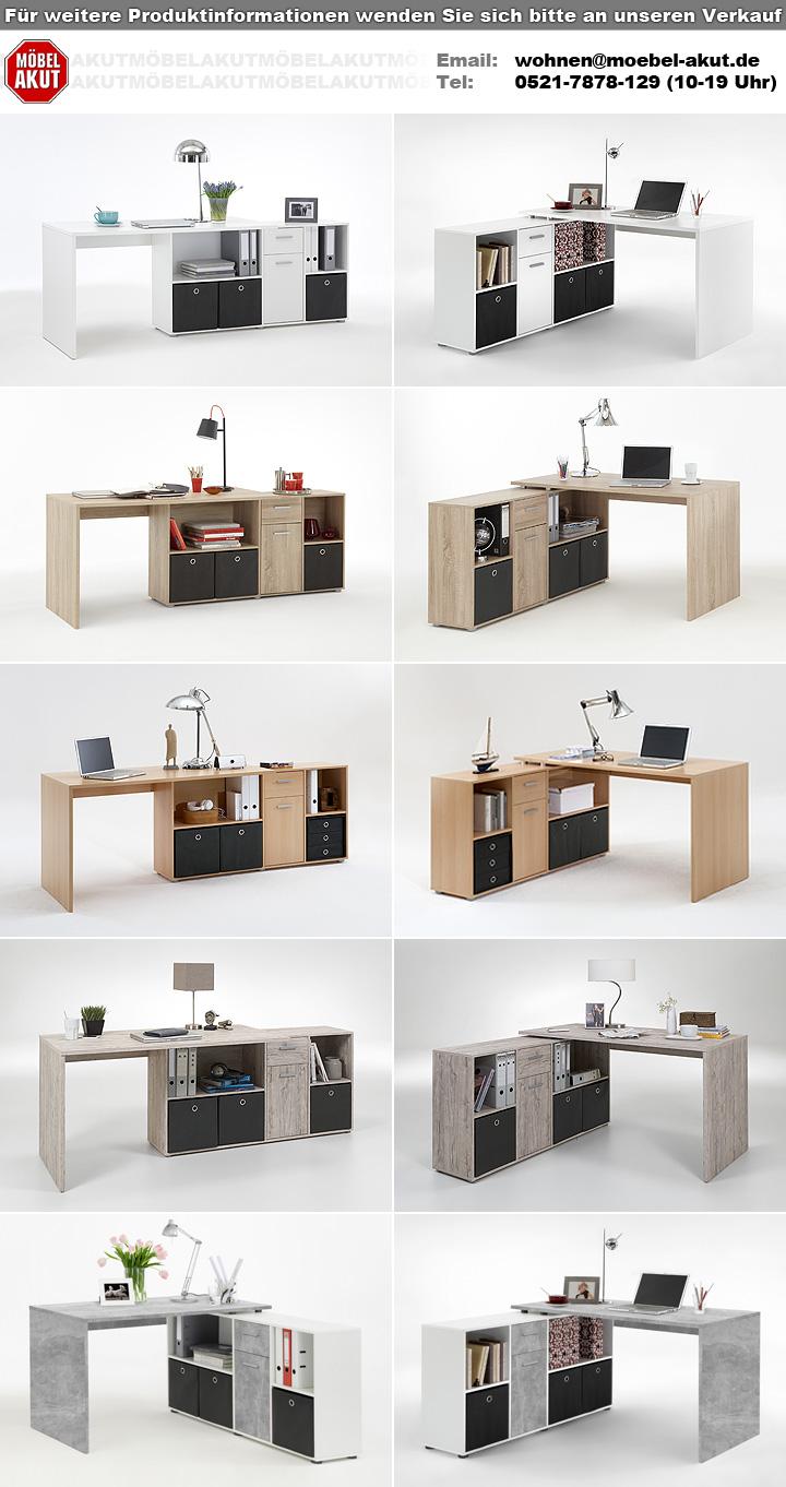 schreibtisch lexx winkelkombination tisch b rotisch in wei. Black Bedroom Furniture Sets. Home Design Ideas