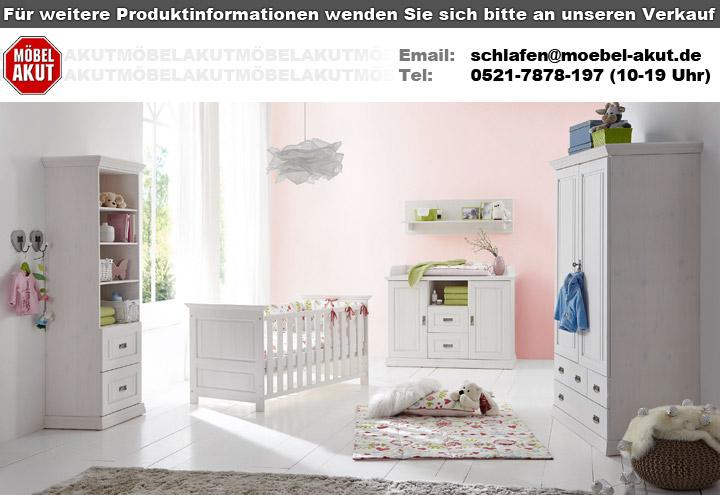 babybett odette gitterbett babyzimmerm bel in kiefer massiv wei. Black Bedroom Furniture Sets. Home Design Ideas