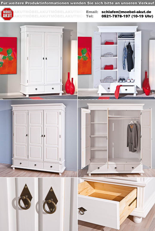 kleiderschrank danz dreht renschrank schrank kiefer massiv wei lackiert 2 t rig ebay. Black Bedroom Furniture Sets. Home Design Ideas