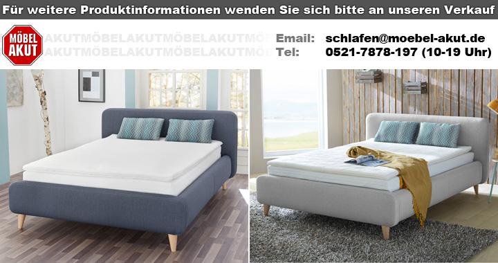 boxspringbett frieda 140x200 bett grau komfortbett bonell federkern schlafzimmer ebay. Black Bedroom Furniture Sets. Home Design Ideas