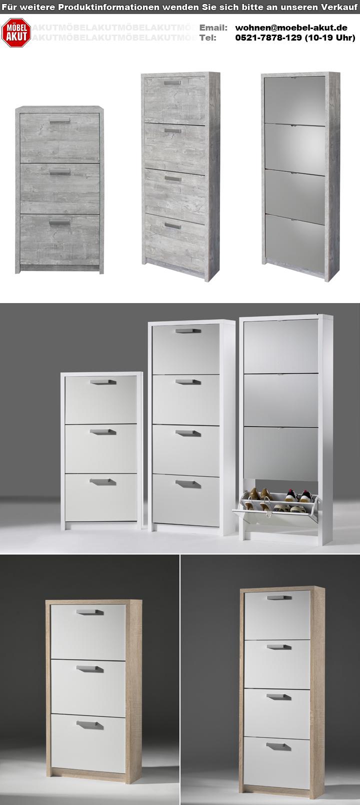 schuhkipper big in wei matt front spiegel mit 4 klappen f r 24 paar. Black Bedroom Furniture Sets. Home Design Ideas