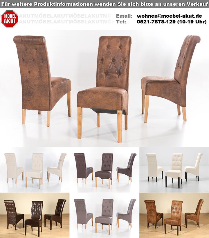 polsterstuhl harry 2er set antik buffalo eiche massiv. Black Bedroom Furniture Sets. Home Design Ideas