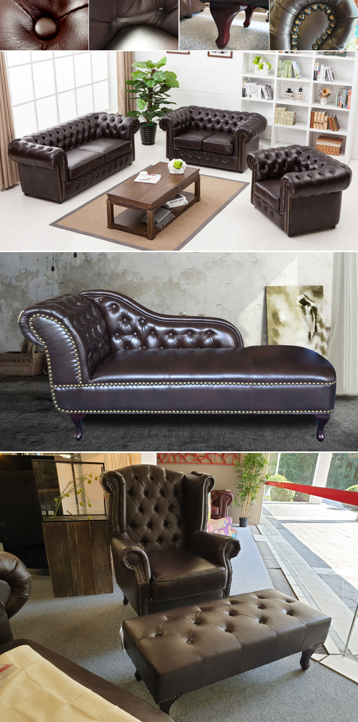 sessel chesterfield in antik dunkelbraun gl nzend mit steppung. Black Bedroom Furniture Sets. Home Design Ideas