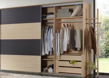schwebet renschrank easy plus eiche s gerau mit wei 225 cm breite. Black Bedroom Furniture Sets. Home Design Ideas