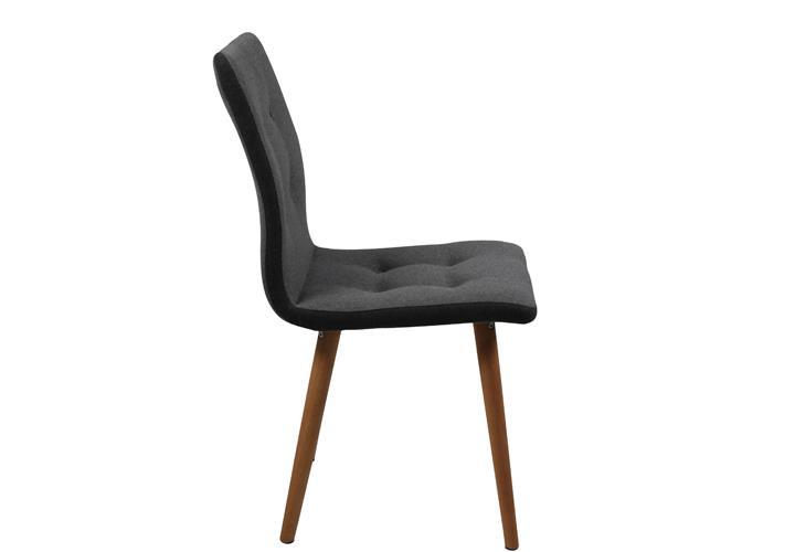 Stuhl frida 2er set retro polsterstuhl in stoff beine eiche massiv ge lt ebay - Stuhl eiche massiv ...